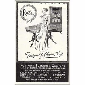 1946 Rway Furniture: Dining Room Vintage Print Ad
