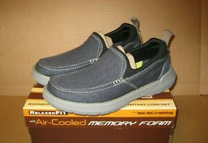 SKECHERS Relaxed Fit Doveno - Hangout     Navy    Size: 11.5      204050