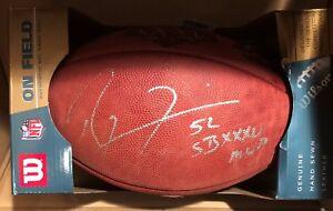 Ray Lewis Ravens Super Bowl Autograph Football JSA w/ SB MVP Inscription