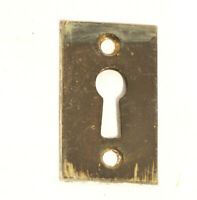"Antique Brass Key Hole Escutcheon Key Cover Door Hardware  1.75 x 1"""