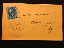 "1873   ALLEGAN, MICHIGAN  UNITED STATES COVER WITH 3 CENT ""WASHINGTON"" STAMP!"