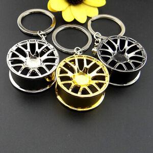 Man's Wheel Hub Rim Model Man's Keychain Car Key Chain Cool Keyring Accessories