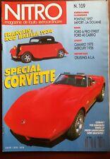 Nitro n°109 du 6/1990; Rod Balilla 1934/ Spécial Corvette/ Pontiac 1957/ Import
