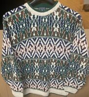 Vintage Ralph Lauren Hand Knit Sweater; Mens Large Aztec; Western; Cosby; Coogie