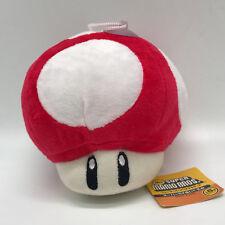 "New Super Mario Bros Plush Red Super Mushroom Soft Toy Stuffed Animal Teddy 5.5"""