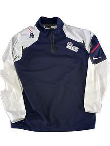 Nike New England Patriots On Field Pullover Windbreaker Jacket Mens L NWOT NFL