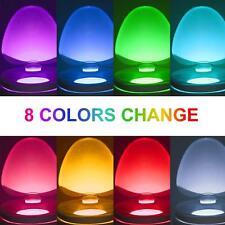1 PCS Night 8 Color Toilet Bowl Light LED Motion Activated Sensor Bathroom