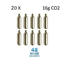20 x 16g Threaded CO2 Cartridge Canister Capsule Bike Tyre Inflator Pump Gas