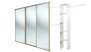 Oak framed mirror doors x3 and Basix unit. Up to 2235mm (7ft 4ins) wide