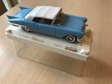 Solido Cadillac Eldorado 1/43 diecast model blue body white roof model no 4501