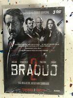 Braquo Seconda 2° Stagione 2 Completa Nuova Sigillata 3 X DVD Spagnolo Franc 3T