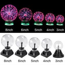 """3/4/5/6/8"""" Magic Crystal Globe Desktop Light Lightning Touch Plasma Ball Sphere"""