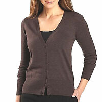 Womens S Small Cardigan Sweater Brown Tunic NEW Worthington Z327