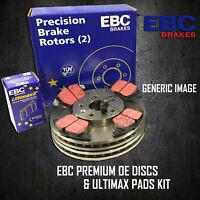 NEW EBC 334mm FRONT BRAKE DISCS AND PADS KIT BRAKING KIT OE QUALITY - PDKF184
