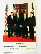 1981 Four President Post Card, Reagan, Ford, Carter, Nixon POTUS Postcard