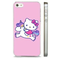 Hello Kitty Unicorn Pink Colourful CLEAR PHONE CASE COVER fits iPHONE 5 6 7 8 X