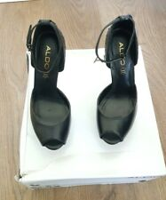 ALDO WOMEN'S PARTY SPARKLING BLACK HIGH HEEL SIZE UK5/ EUR38 CONDITION USED ONCE