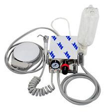 Mini Portable Dental Air Turbine Unit Compressor Low High Handpiece With Bottle