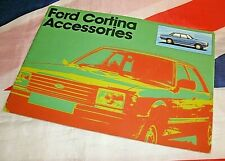 USED Ford Cortina Accessories Car Care Products Catalogue In Very Nice Condition