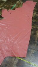 Italian Top quality Cow hide leather Hide Dark Coral 34 by 60 Inches 3 oz