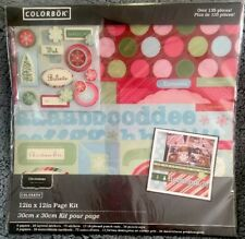Christmas Scrapbook Page Kit🎄Over 135 Pieces/Holiday-12x12 Scrapbook Page Kit