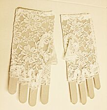 VINTAGE STYLE NETTED WHITE LACE FINGERLESS GLOVES  CLASSICAL WEDDING STEAM PUNK