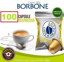 100 CAPSULE caffè BORBONE MISCELA ORO RESPRESSO Compatibili Nespresso + OMAGGIO