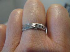 Antique French Eagle Head Maker Mark 14K 18K W Gold Eternity wedding Band Ring