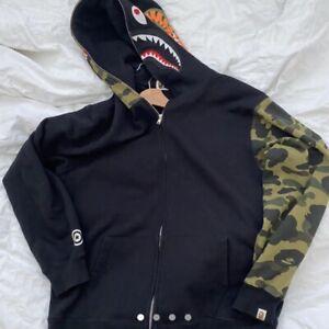 BAPE (A Bathing Ape) Shark Hoodie Size XL (Black/Camo)