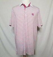 RLX Ralph Lauren Mens XL Short Sleeve Polo Shirt Striped Stretch Mediterra