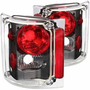 ANZO Taillights Set For 1973-1987 Chevrolet Blazer CK Pickup Black/Red 211016