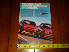 SHELBY CSX TURBOCHARGED - DODGE SHADOW ES - ORIGINAL 1989 AD