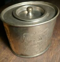Vintage English Breakfast Tea Oval Container Silver Plated
