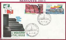 ITALIA FDC FILAGRANO LAVORO ITALIANO PER IL MONDO OLIVETTI 1986 TORINO Y357