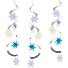 Snowflakes Hanging Danglers 5 Pack Winter Christmas Party Decoration