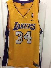 Shaquille O'neal Shaq Men Nike Swingman Los Angeles Lakers Jersey Size L Vintage