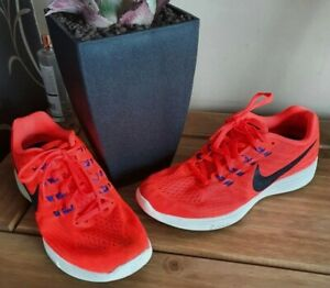Nike Lunar Tempo 2 Orange Running Trainers Size Uk 8