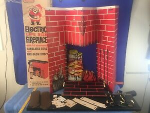 ToyMaster Life Size Cardboard Electric Christmas Fireplace PARTS LOT ONLY