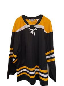 MENS Large Hockey Jersey Boston Bruins Blank Lace-Up NWOT