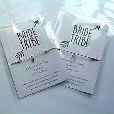 Hen Party bracelets Hen favours wish bracelets Personalised hen bracelets/bags