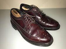 Bostonian Men's Crown Windsor Burgundy Leather Shoes Long Wingtip Oxford 9