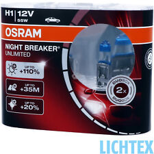 H1 OSRAM Night Breaker UNLIMITED - Power Scheinwerfer Lampe - DUO-Pack NEU