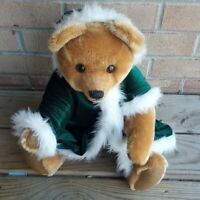 """Vintage 19"""" Sally Winey signed Winter MOHAIR Bear with hood"""