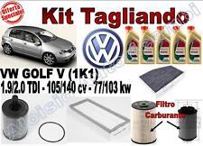 KIT TAGLIANDO OLIO CASTROL EDGE 5W30 + FILTRI VW GOLF V 1.9/2.0 TDI DAL 2003 -->