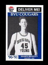 1990 Pizza Hut Emery High School BYU Shawn Bradley pre-college pre-NBA card MInt