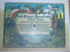 GERMAN - Kriegs Chronik/Decorative War Record. Holder of Iron Cross & Bayer MVK.