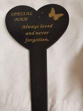 Nan plastic memorial stake lovely addition to loved ones graveside App 8inch