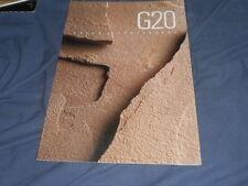 1990 Nissan Infinity G20 USA Market Colors Upholstery Brochure Catalog Prospekt