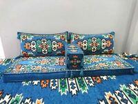 Turkish Arabic Kilim Corner Set Sofa Cushion Pillows Ottoman Lounge With Sponge