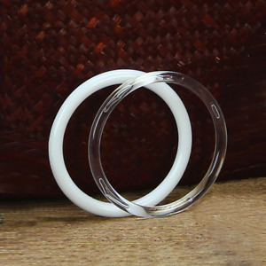 """Plastic Acrylic Craft Rings (Pack of 6) Choose Color & Size 1.75"""", 3"""", 4"""" or 5"""""""